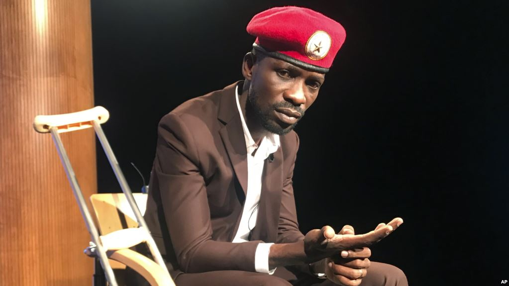 Image result for us ambassador to uganda and Bobi Wine